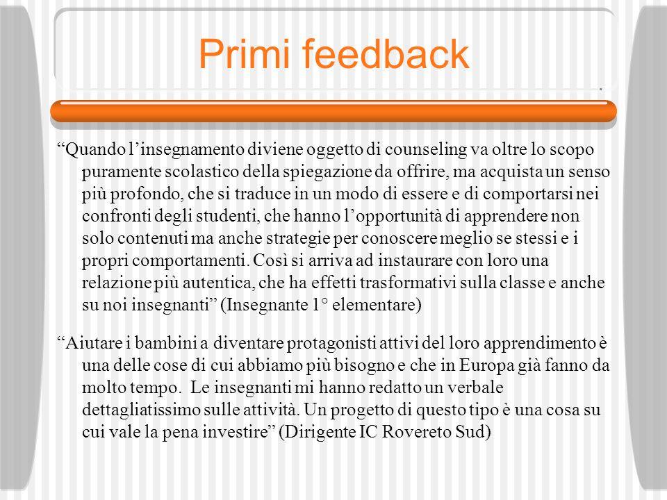 Primi feedback