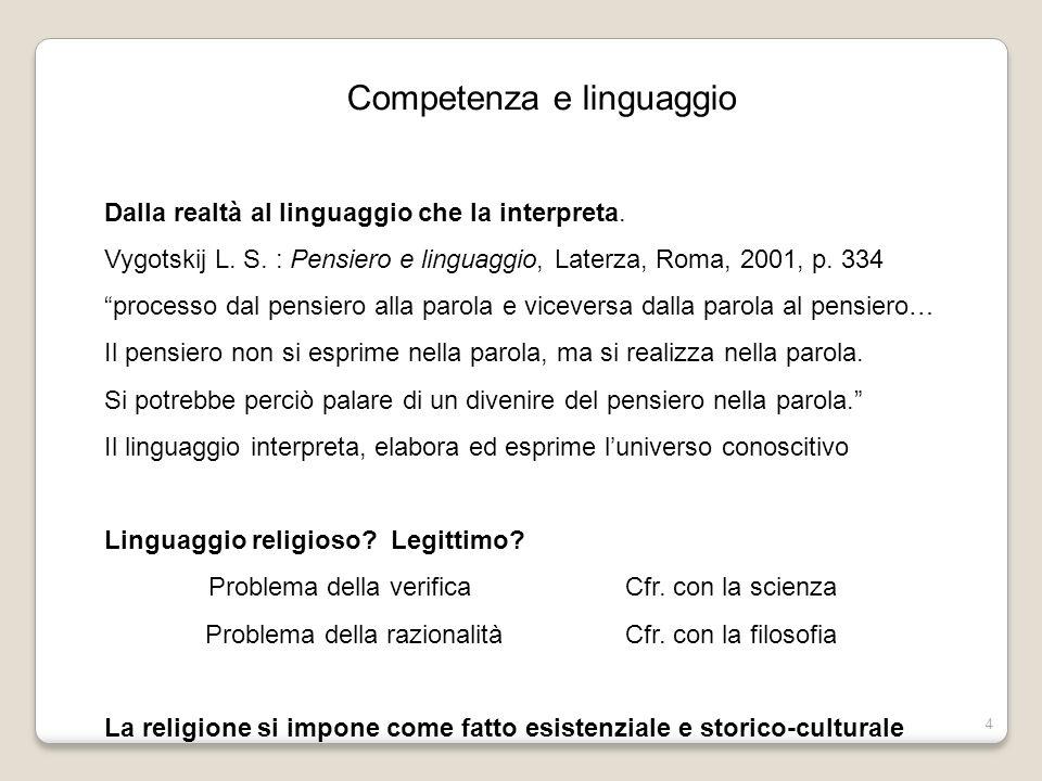 Competenza e linguaggio