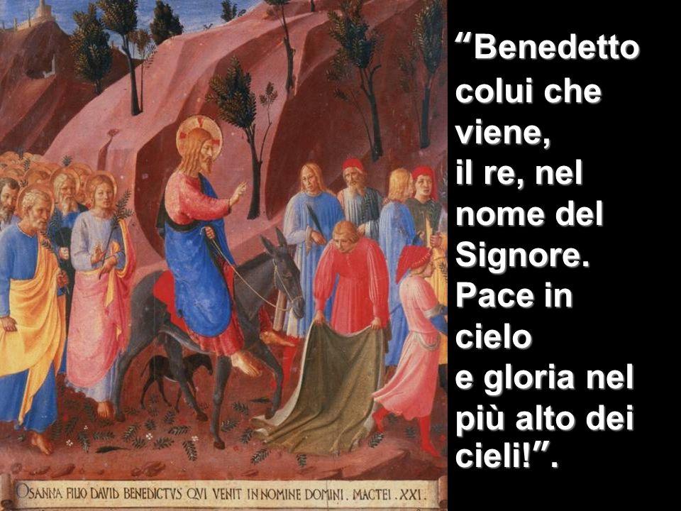 Benedetto colui che viene, il re, nel nome del Signore