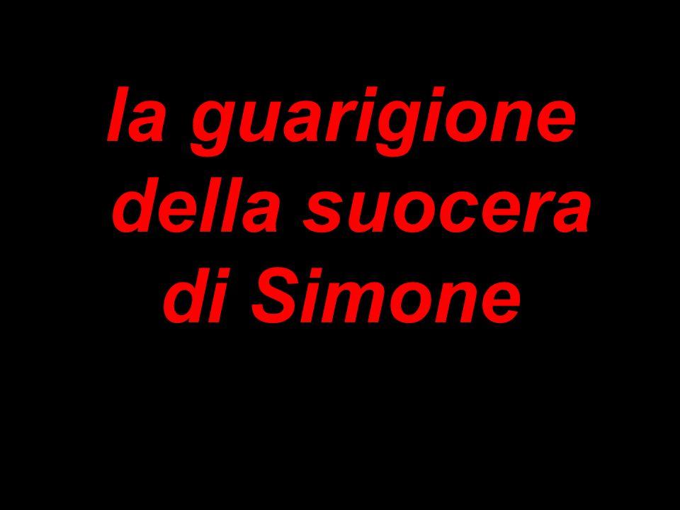 la guarigione della suocera di Simone