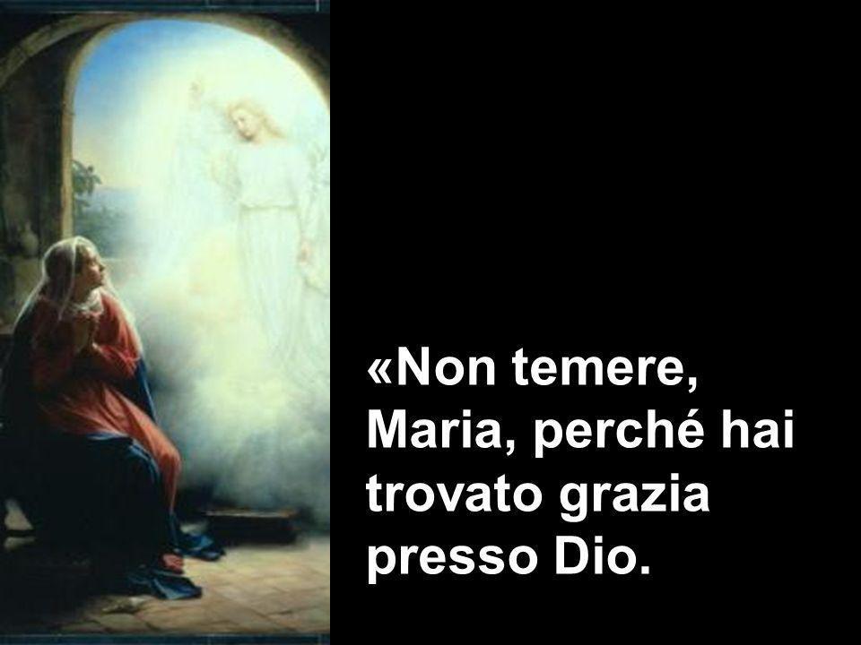«Non temere, Maria, perché hai trovato grazia presso Dio.