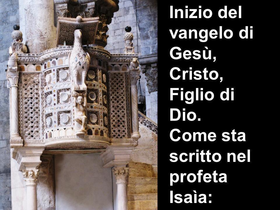 Inizio del vangelo di Gesù, Cristo, Figlio di Dio