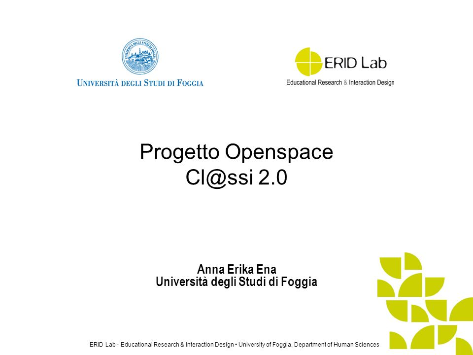 Progetto Openspace Cl@ssi 2.0