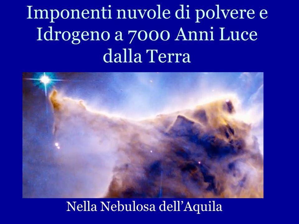 Imponenti nuvole di polvere e Idrogeno a 7000 Anni Luce dalla Terra