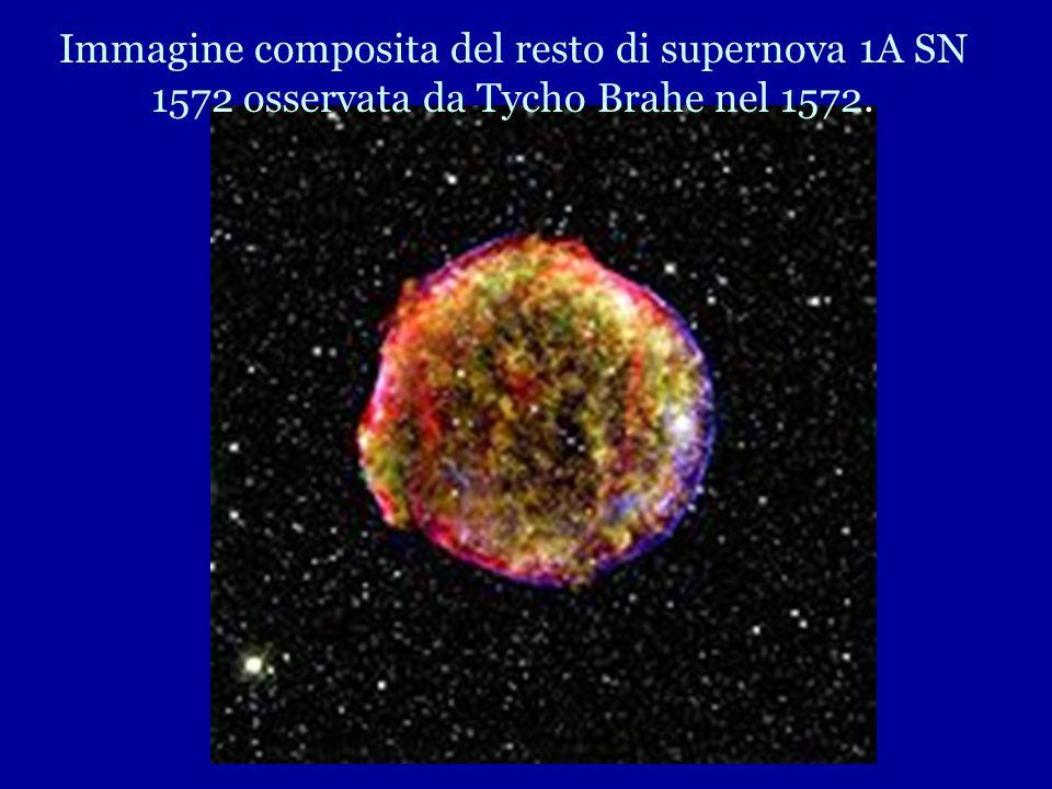 Immagine composita del resto di supernova 1A SN 1572 osservata da Tycho Brahe nel 1572.