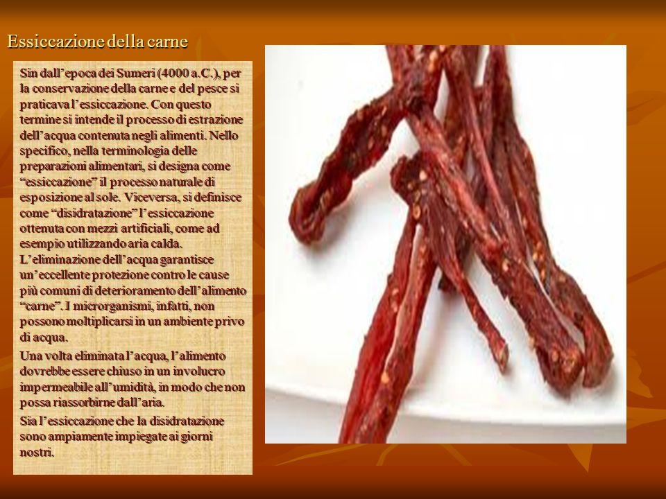 Essiccazione della carne
