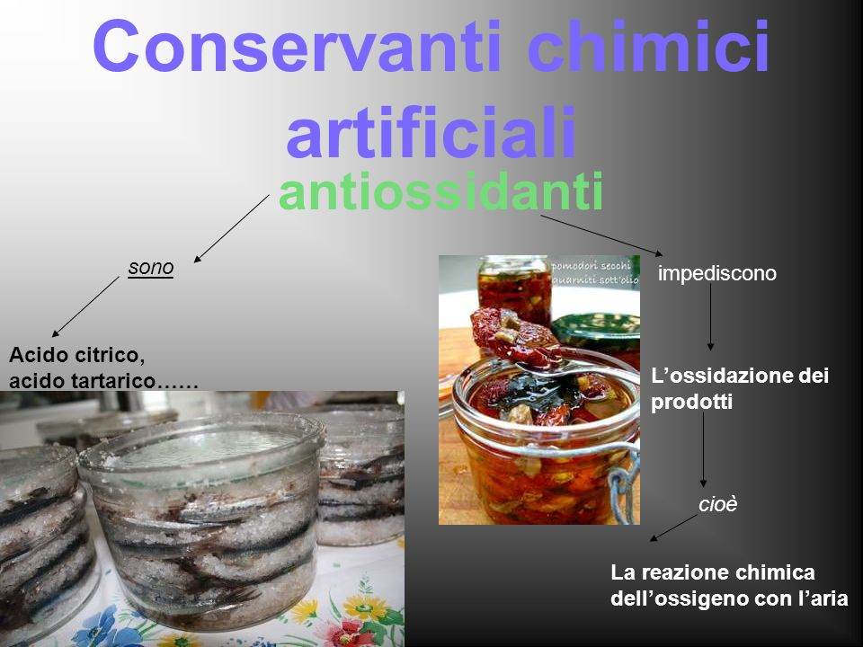 Conservanti chimici artificiali