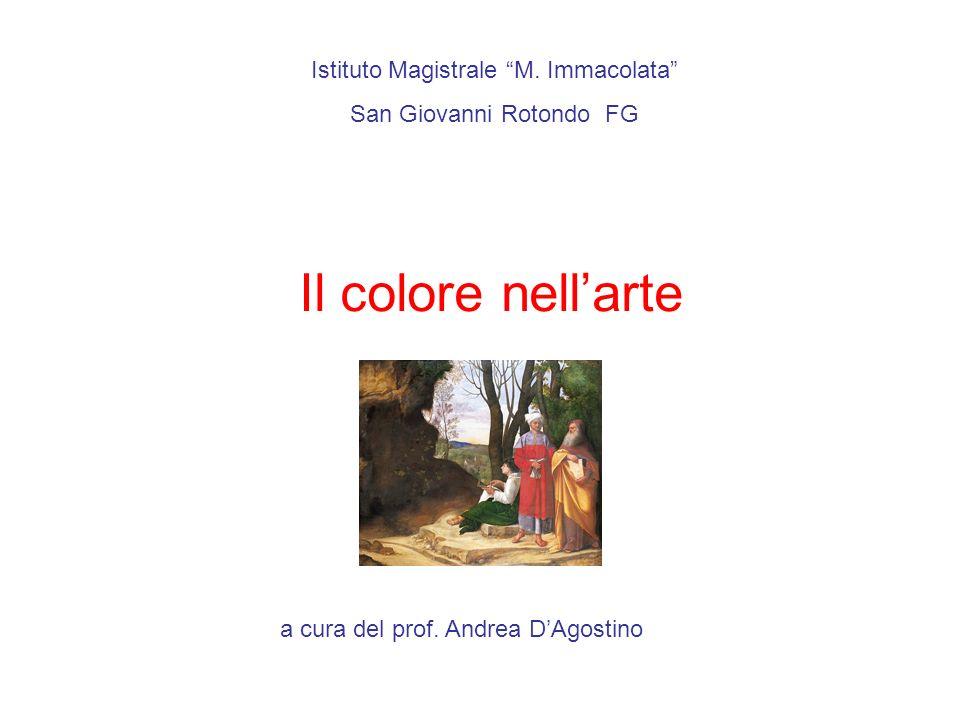 Il colore nell'arte Istituto Magistrale M. Immacolata