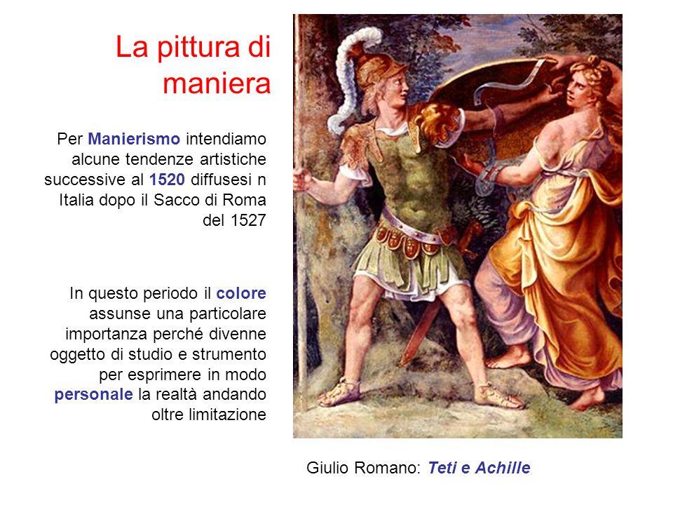 La pittura di maniera Per Manierismo intendiamo alcune tendenze artistiche successive al 1520 diffusesi n Italia dopo il Sacco di Roma del 1527.