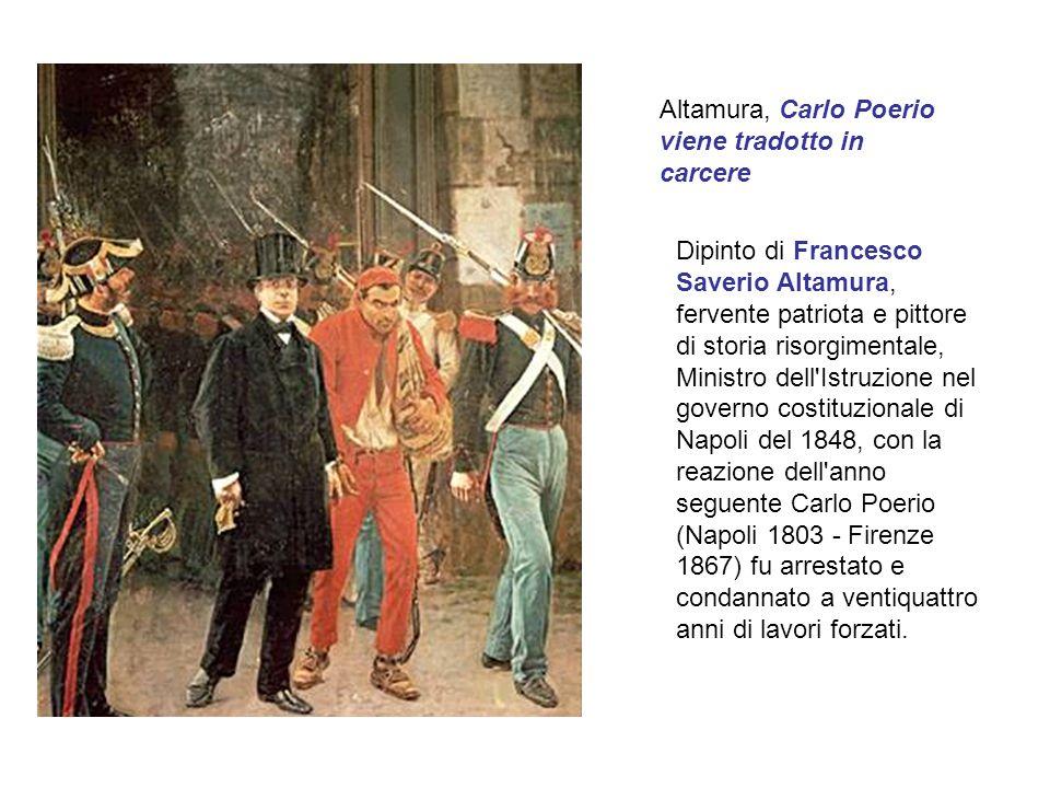 Altamura, Carlo Poerio viene tradotto in carcere