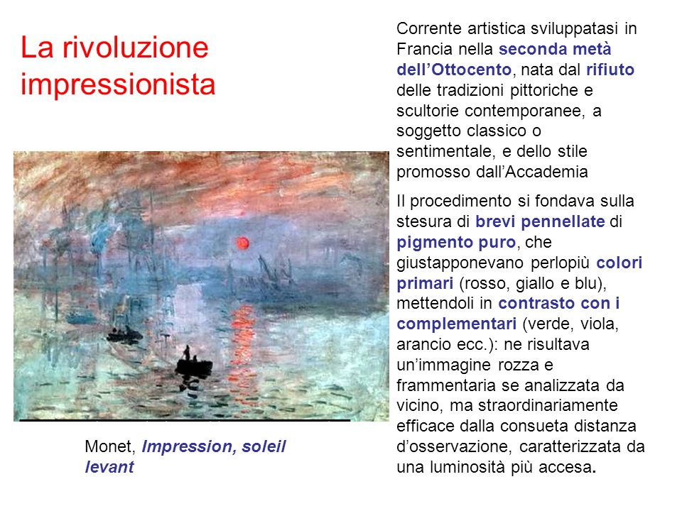 La rivoluzione impressionista