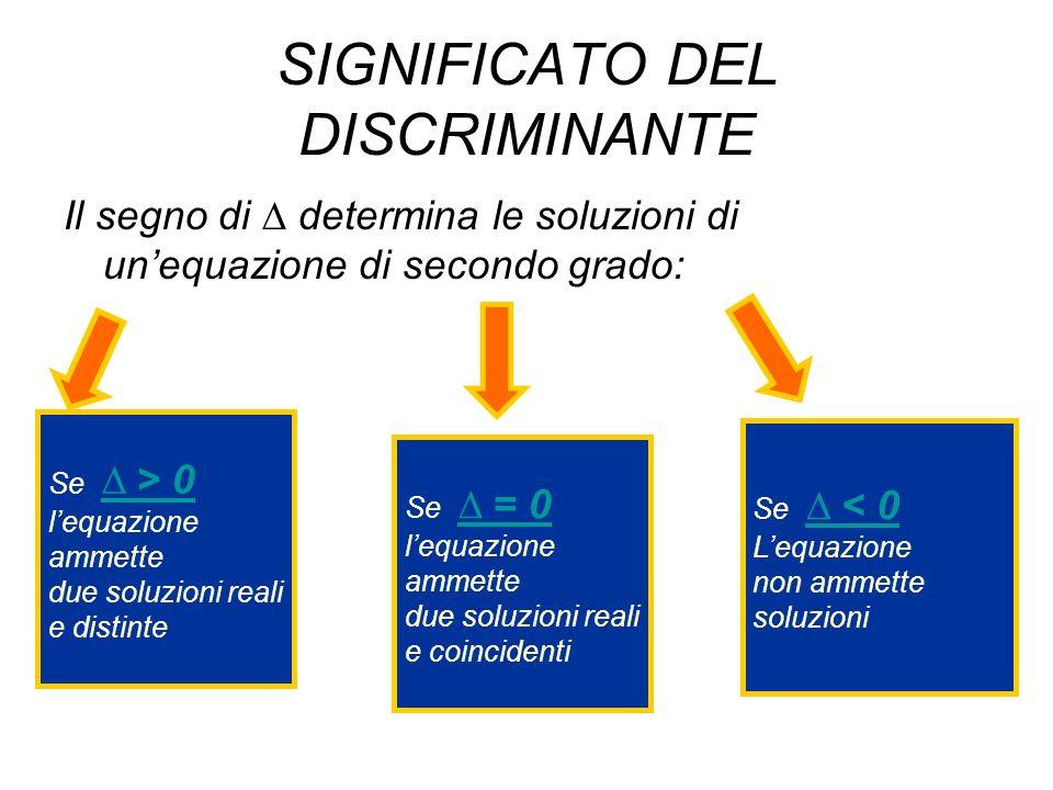 SIGNIFICATO DEL DISCRIMINANTE