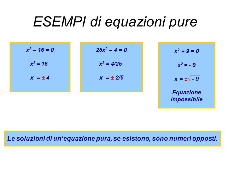 ESEMPI di equazioni pure
