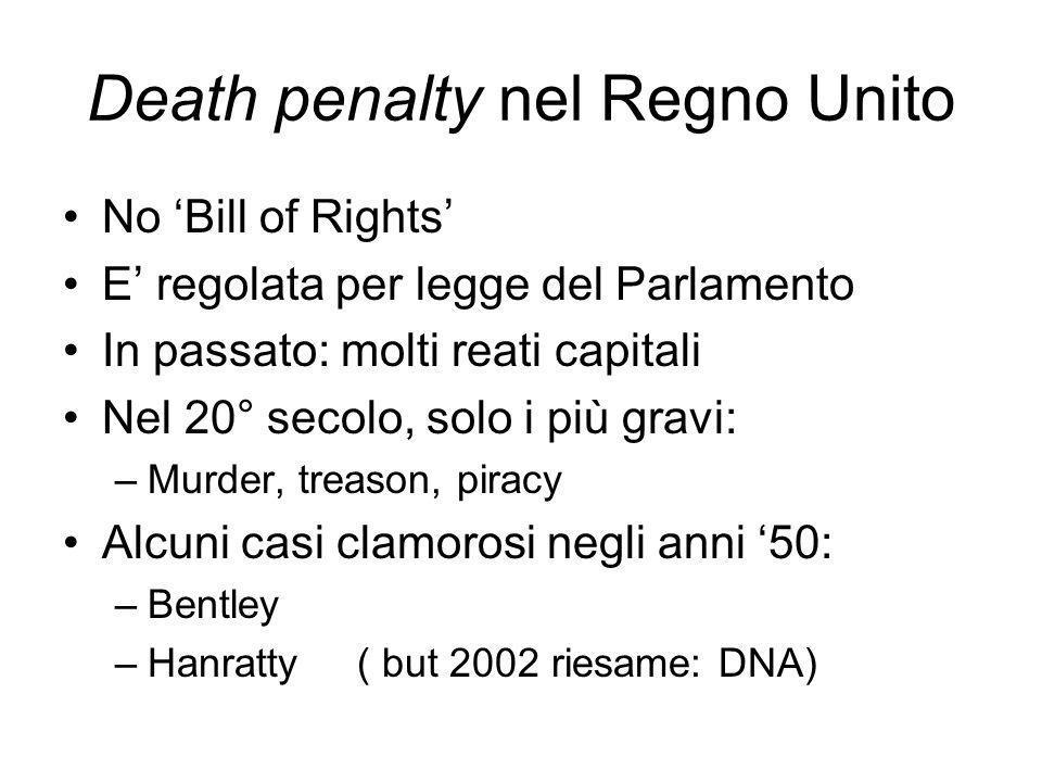 Death penalty nel Regno Unito