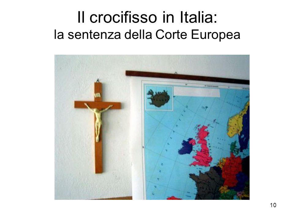 Il crocifisso in Italia: la sentenza della Corte Europea