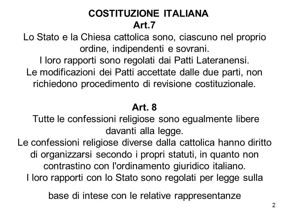 COSTITUZIONE ITALIANA Art