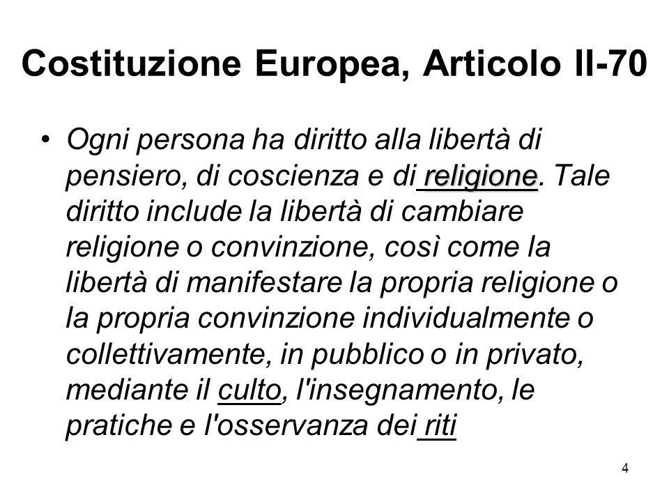 Costituzione Europea, Articolo II-70