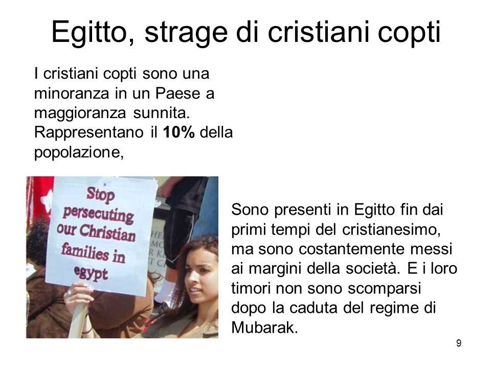 Egitto, strage di cristiani copti
