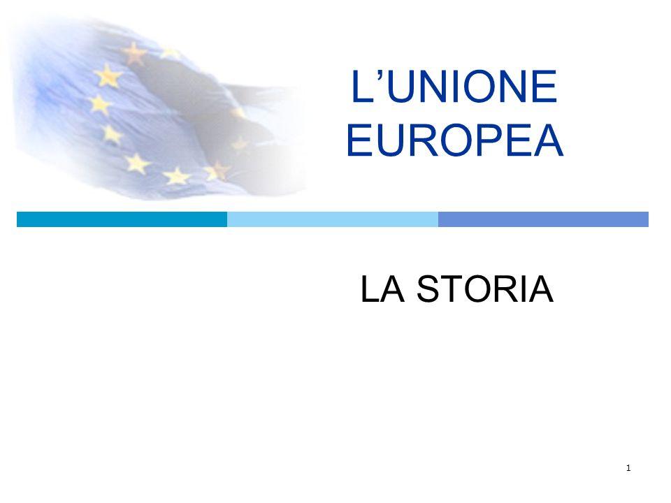 L'UNIONE EUROPEA LA STORIA