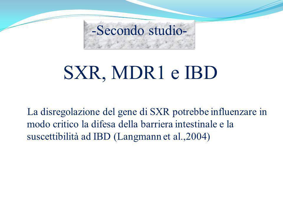 SXR, MDR1 e IBD -Secondo studio-