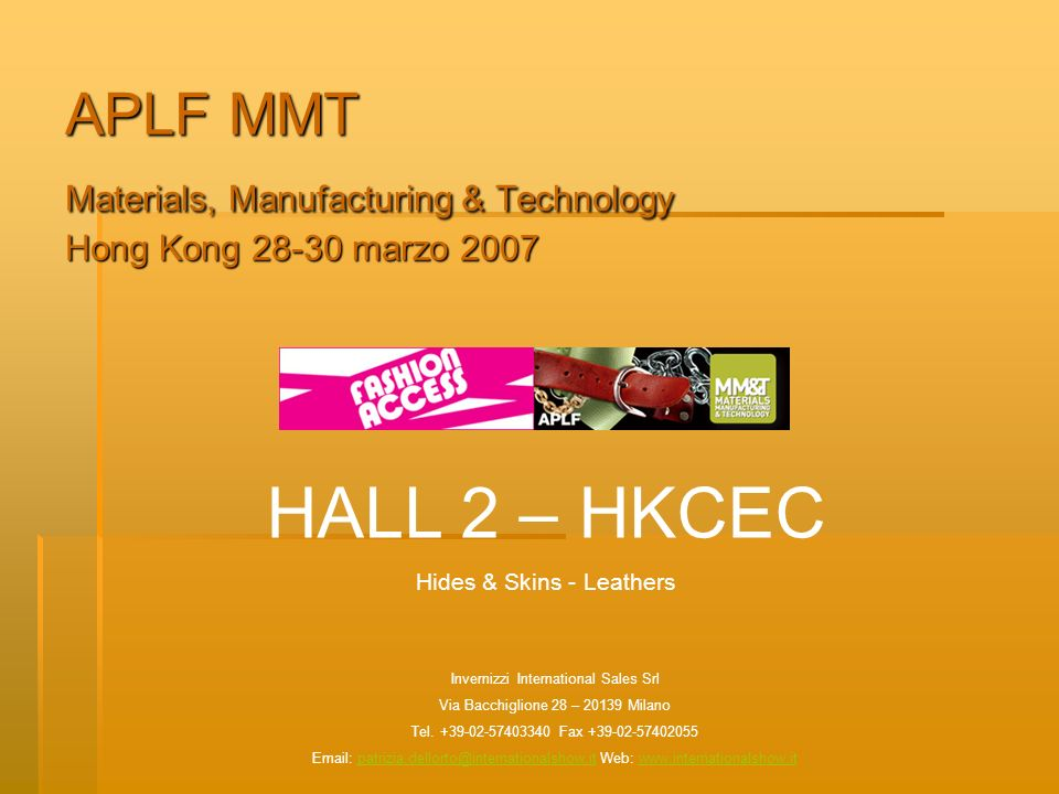 APLF MMT Materials, Manufacturing & Technology Hong Kong marzo 2007