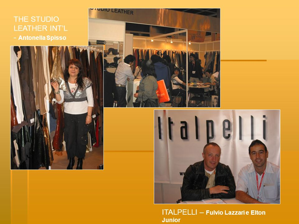 THE STUDIO LEATHER INT'L - Antonella Spisso