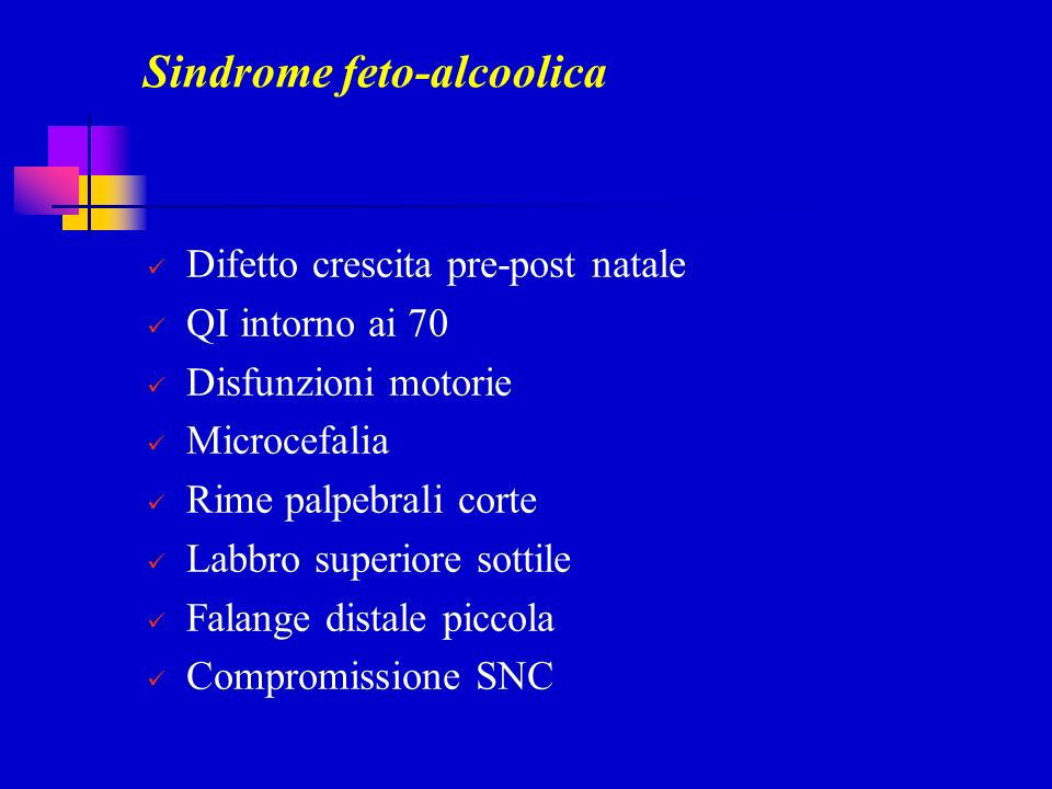 Sindrome feto-alcoolica