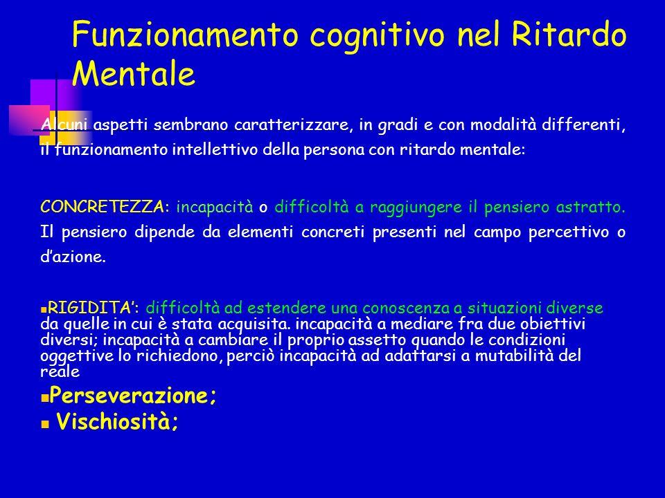 Funzionamento cognitivo nel Ritardo Mentale