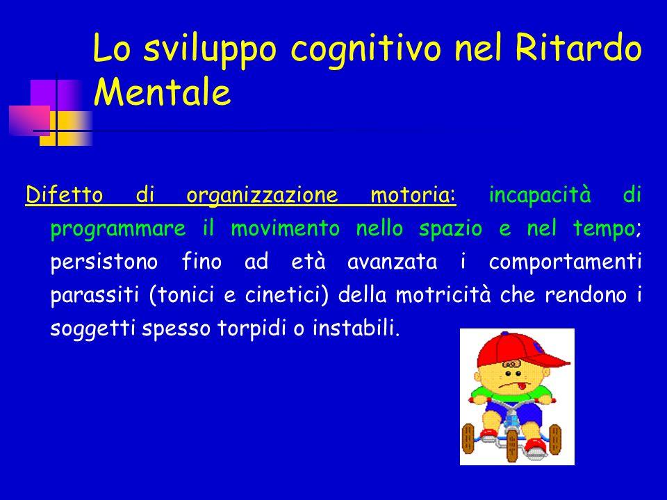 Lo sviluppo cognitivo nel Ritardo Mentale