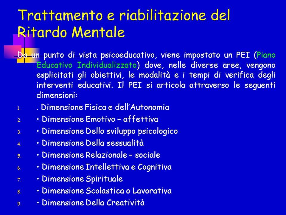 Trattamento e riabilitazione del Ritardo Mentale