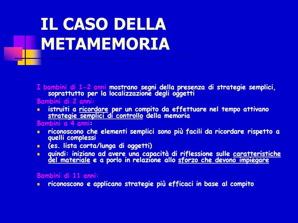 IL CASO DELLA METAMEMORIA