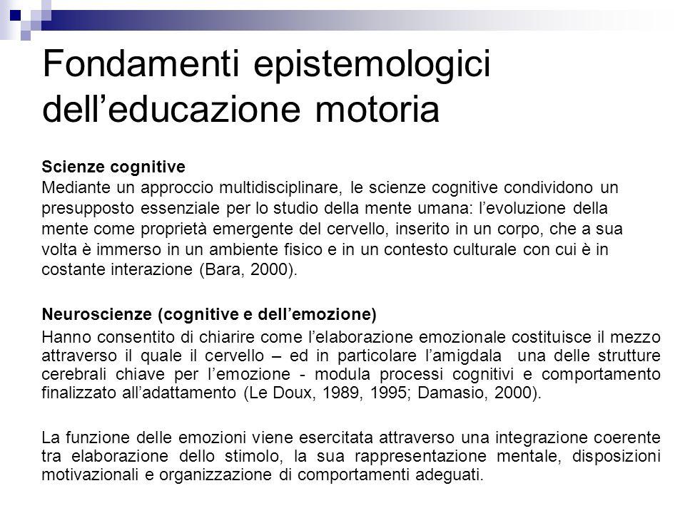 Fondamenti epistemologici dell'educazione motoria