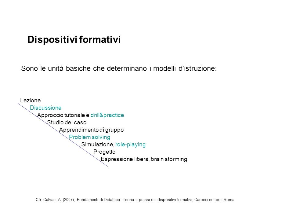 Dispositivi formativi
