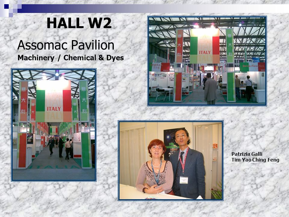 HALL W2 Assomac Pavilion Machinery / Chemical & Dyes