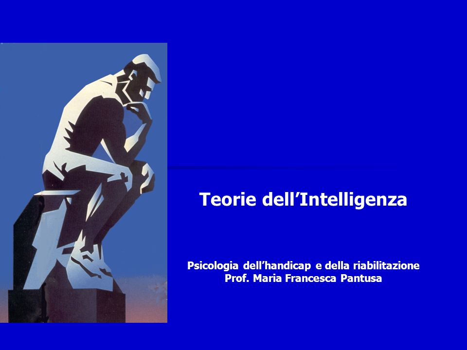 Teorie dell'Intelligenza