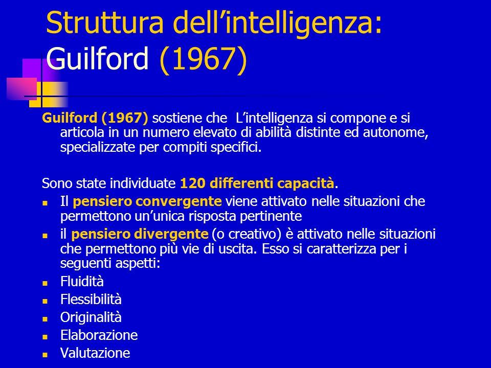 Struttura dell'intelligenza: Guilford (1967)