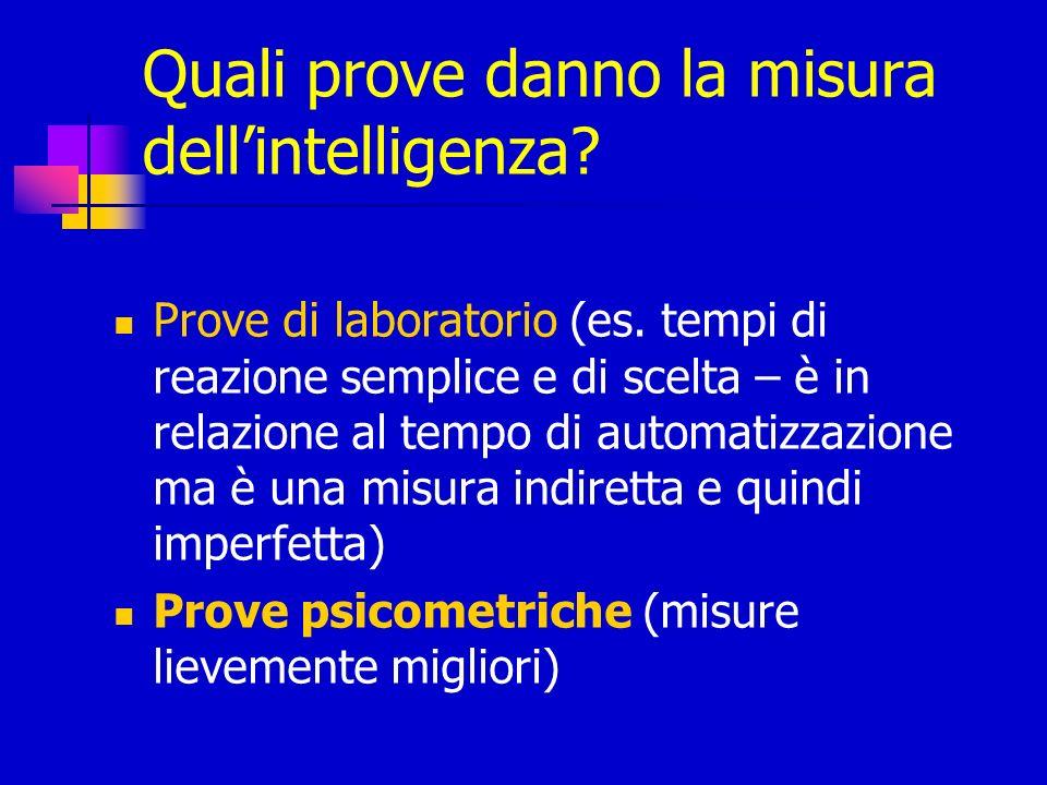 Quali prove danno la misura dell'intelligenza