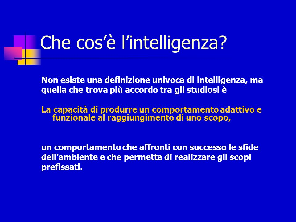 Che cos'è l'intelligenza