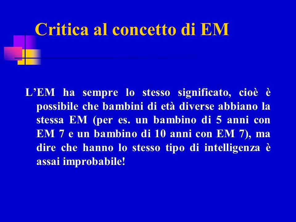 Critica al concetto di EM