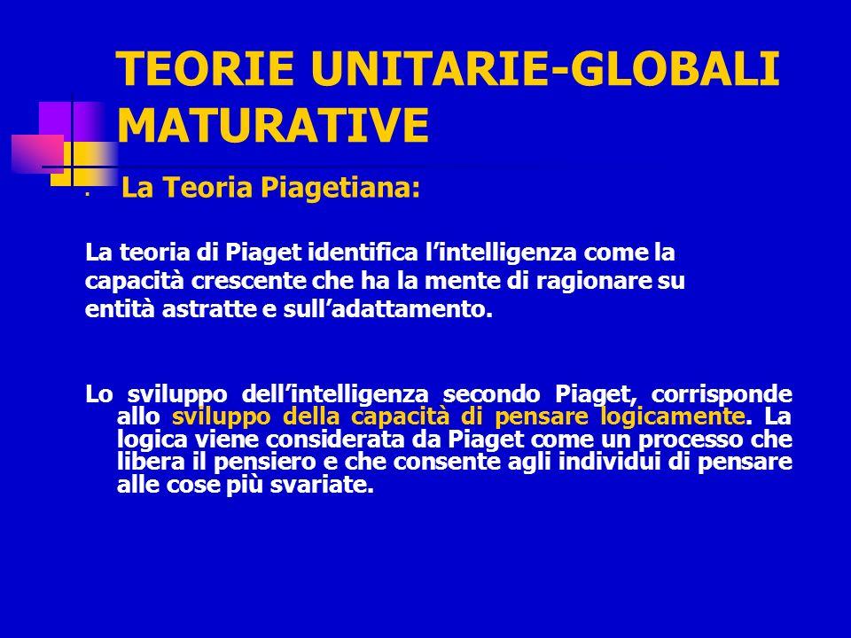 TEORIE UNITARIE-GLOBALI MATURATIVE