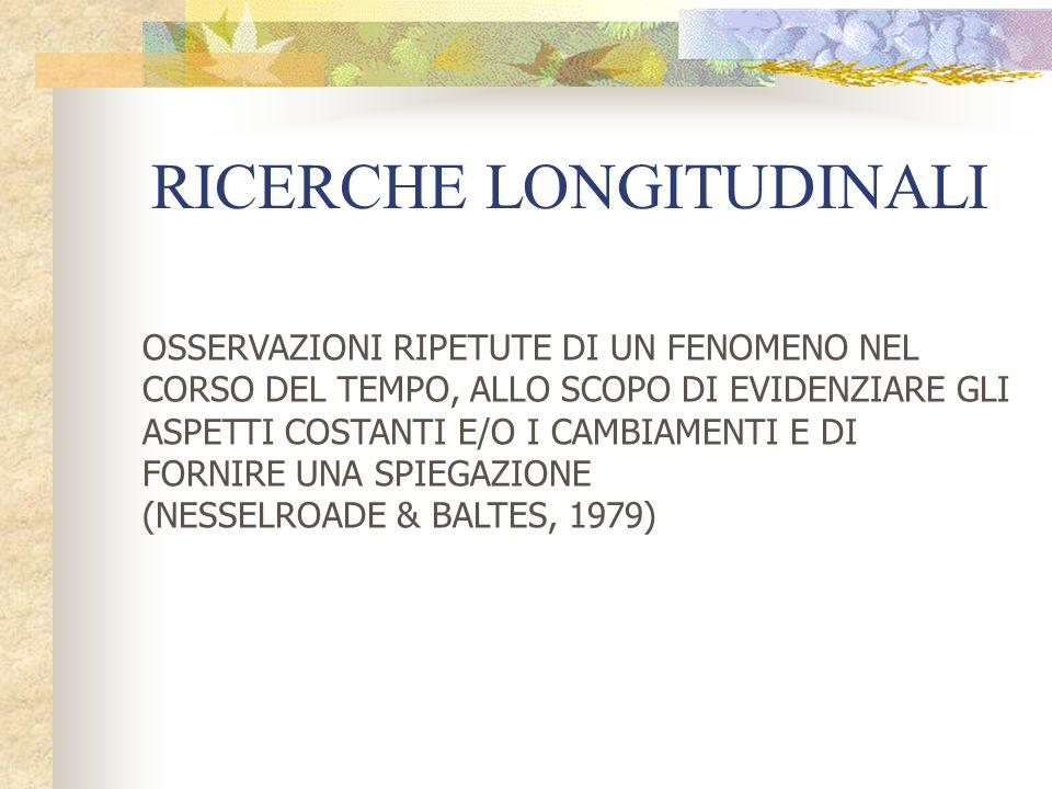 RICERCHE LONGITUDINALI