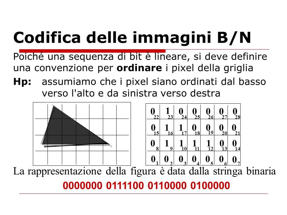 Codifica delle immagini B/N
