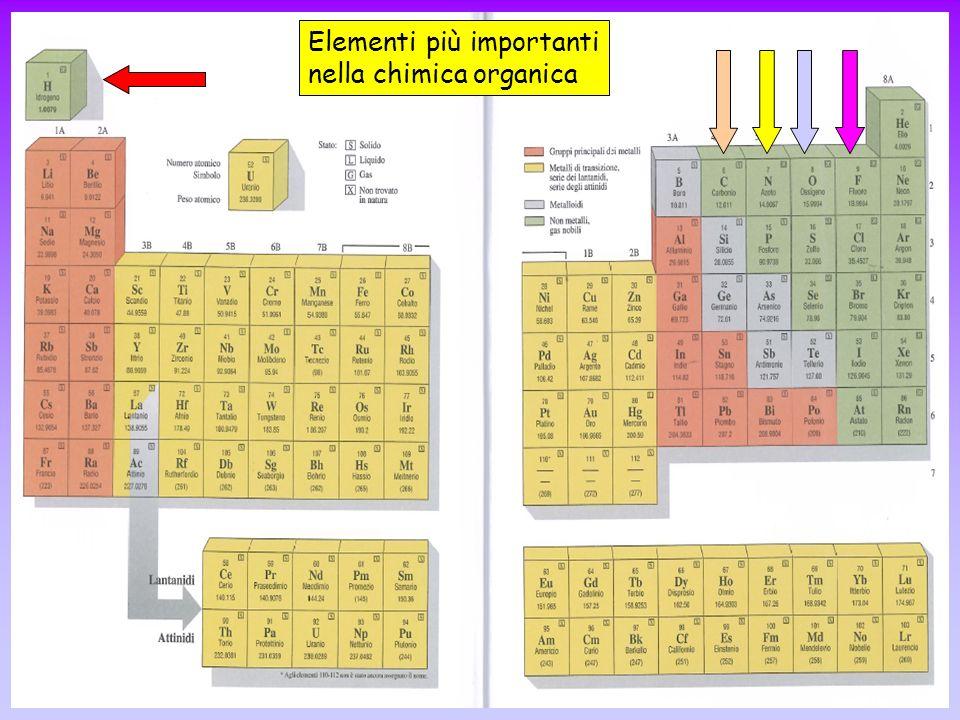 Elementi più importanti nella chimica organica