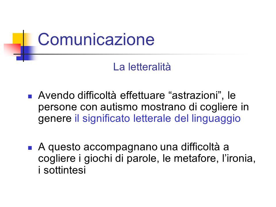 Comunicazione La letteralità