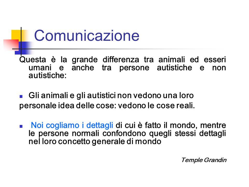 Comunicazione Questa è la grande differenza tra animali ed esseri umani e anche tra persone autistiche e non autistiche: