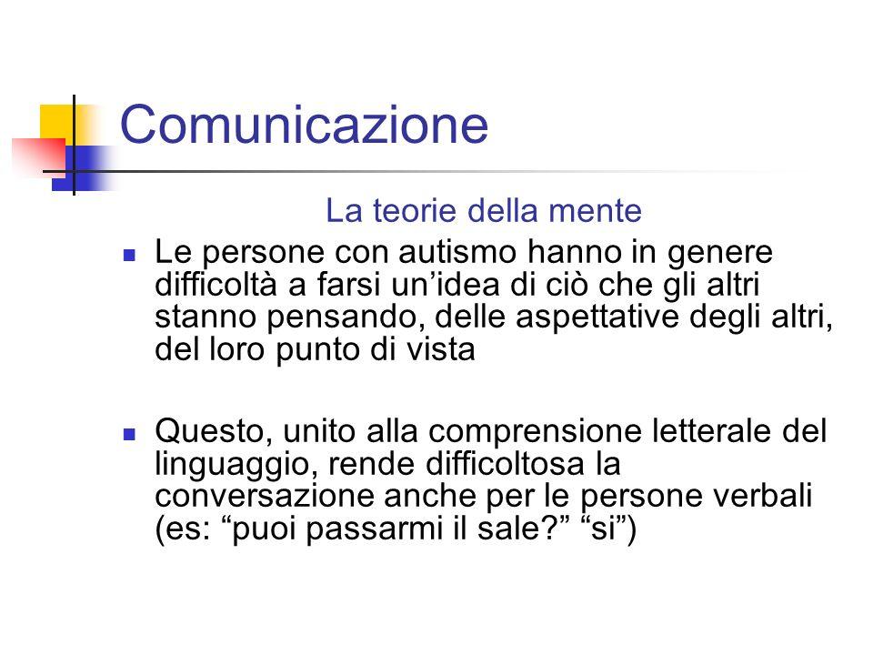 Comunicazione La teorie della mente