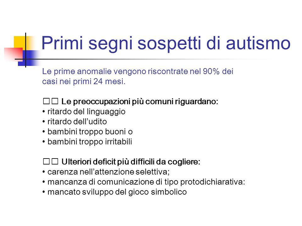 Primi segni sospetti di autismo