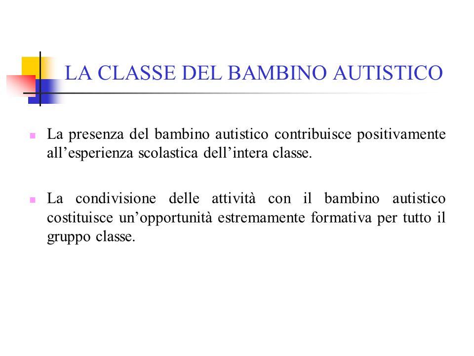 LA CLASSE DEL BAMBINO AUTISTICO