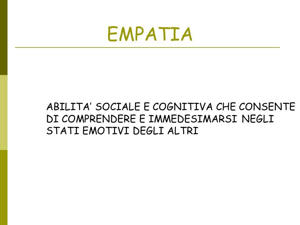 EMPATIA ABILITA' SOCIALE E COGNITIVA CHE CONSENTE