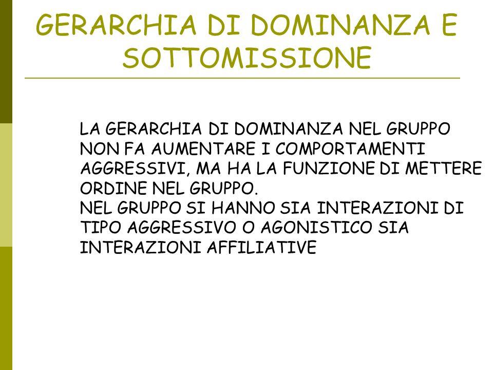 GERARCHIA DI DOMINANZA E SOTTOMISSIONE